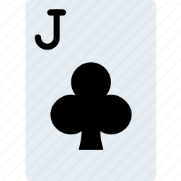 card, casino, clubs, gamble, jack, of, play icon