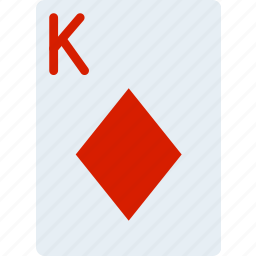 card, casino, diamonds, gamble, king, of, play icon