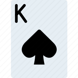 card, casino, gamble, king, of, play, spades icon