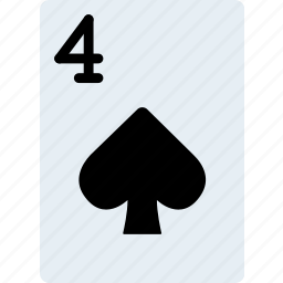 card, casino, four, gamble, of, play, spades icon