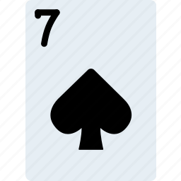 card, casino, gamble, of, play, seven, spades icon