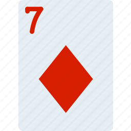 card, casino, diamonds, gamble, of, play, seven icon
