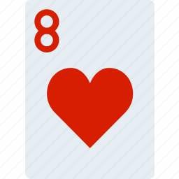 card, casino, eight, gamble, hearts, of, play icon