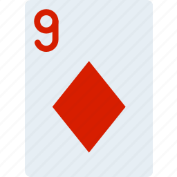 card, casino, diamonds, gamble, nine, of, play icon