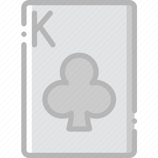 card, casino, clubs, gamble, king, of, play icon