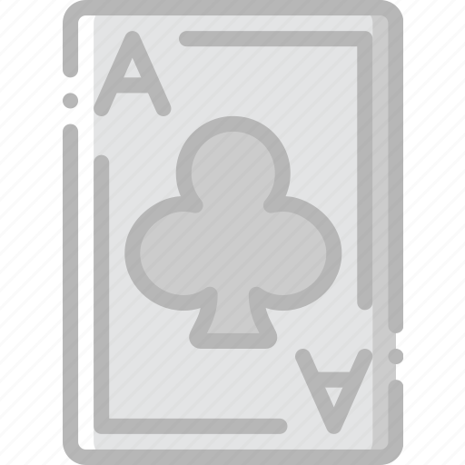 ace, card, casino, clubs, gamble, of, play icon