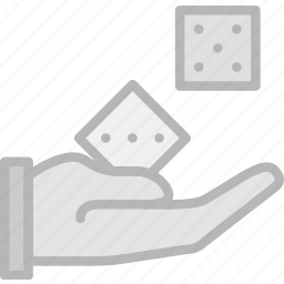 card, casino, dices, gamble, play, roll icon