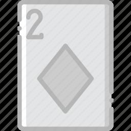 card, casino, diamonds, gamble, of, play, two icon