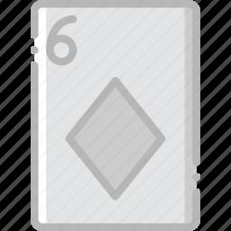 card, casino, diamonds, gamble, of, play, six icon