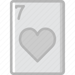 card, casino, gamble, hearts, of, play, seven icon