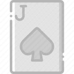 card, casino, gamble, jack, of, play, spades icon