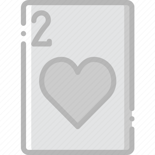 card, casino, gamble, hearts, of, play, two icon