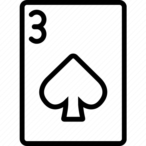 card, casino, gamble, of, play, spades, three icon