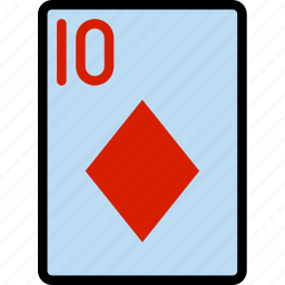 card, casino, diamonds, gamble, of, play, ten icon
