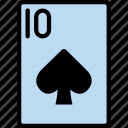 card, casino, gamble, of, play, spades, ten icon
