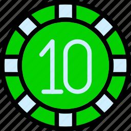 card, casino, chip, gamble, play, poker icon