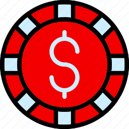 card, casino, chip, dollar, gamble, play, poker icon