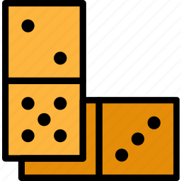card, casino, domino, gamble, pieces, play icon