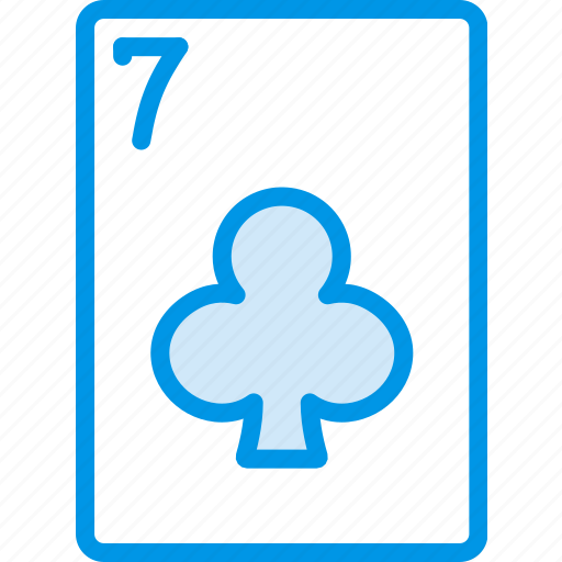 card, casino, clubs, gamble, of, play, seven icon