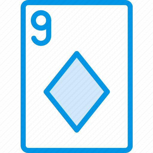 card, casino, diamonds, gamble, nine, of, play icon