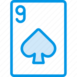 card, casino, gamble, nine, of, play, spades icon