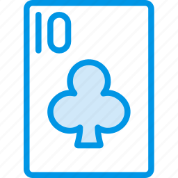 card, casino, clubs, gamble, of, play, ten icon