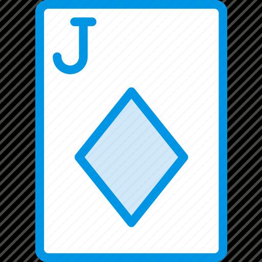 card, casino, diamonds, gamble, jack, of, play icon