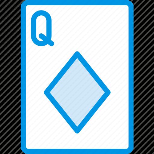 card, casino, diamonds, gamble, of, play, queen icon