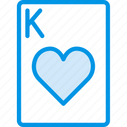 card, casino, gamble, hearts, king, of, play icon