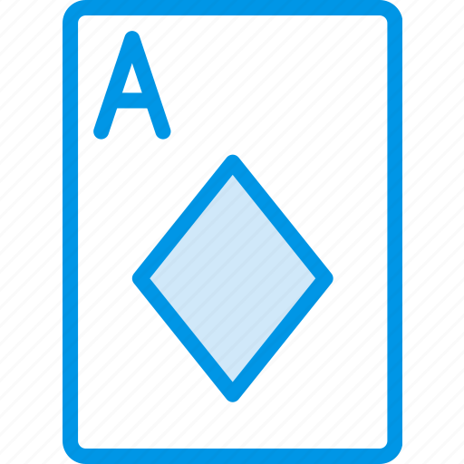 ace, card, casino, diamonds, gamble, of, play icon