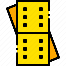 card, casino, dominoes, gamble, piece, play icon
