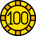 card, casino, chip, gamble, play, poker icon