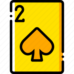 card, casino, gamble, of, play, spades, two icon