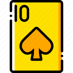 card, casino, gamble, of, play, spades, ten icon