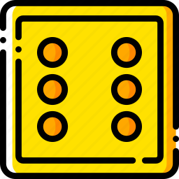 card, casino, gamble, play, six icon
