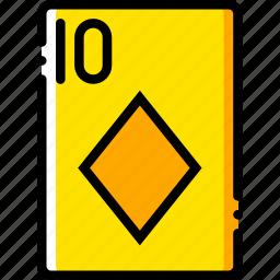 card, casino, diamonds, gamble, of, play, ten icon