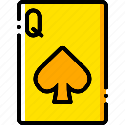 card, casino, gamble, of, play, queen, spades icon