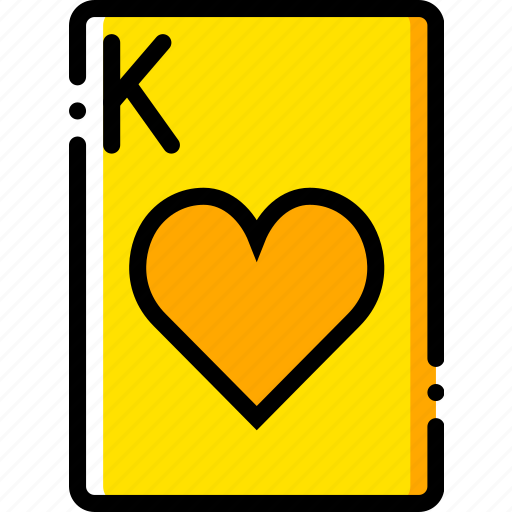 card, casino, gamble, hearts, king, of, play icon