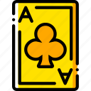 ace, card, casino, clubs, gamble, of, play