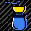 barista, coffee, drink, grinder