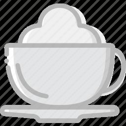 cafe, caffeine, cappucino, coffee, cup, shop icon