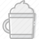 cafe, caffeine, chocolate, coffee, cup, hot, shop icon