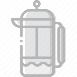 cafe, caffeine, coffee, cup, infuser, shop, tea icon