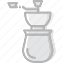 cafe, caffeine, coffee, cup, grinder, shop icon