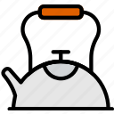 cafe, caffeine, coffee, kettle, shop, tea icon
