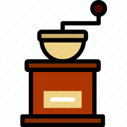 cafe, caffeine, coffee, grinder, shop icon