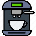 cafe, caffeine, coffee, esspresso, machine, shop icon