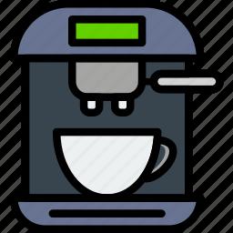 cafe, caffeine, coffee, esspresso, machine, shop icon