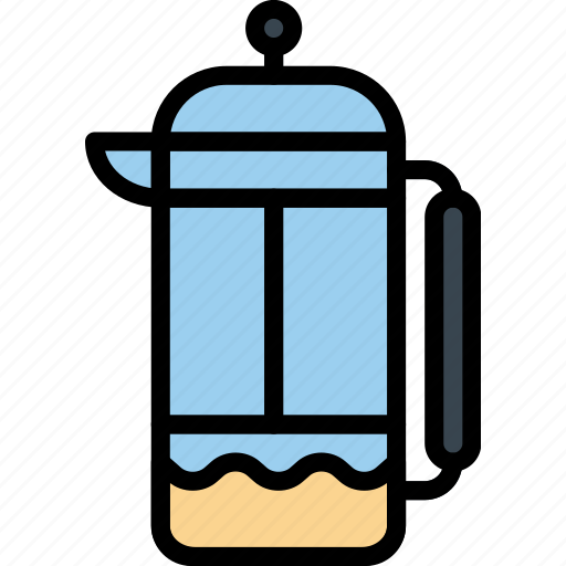 cafe, caffeine, coffee, infuser, shop, tea icon