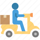 delivery, scooter, shipping, transport